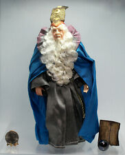 """Dollhouse Miniature Wizard Doll with Book and """"Crystal"""" Ball"""