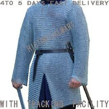 Butted Chainmail Shirt  Large F Sleeve Chain Mail Armor Chainmail Haubergeon