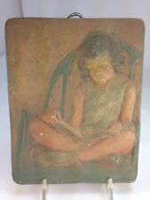 Rare Nancy Coonsman Hahn 1887-1976 Little Girl Sculpture Plaque High Relief