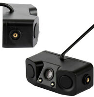 Car Reverse Backup Parking Radar Rear View Camera With Parking Sensor 3-in-1 New