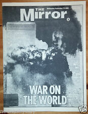 Daily Mirror 9/11 Newspaper September 11th 2001 Terrorists Attacks New York City