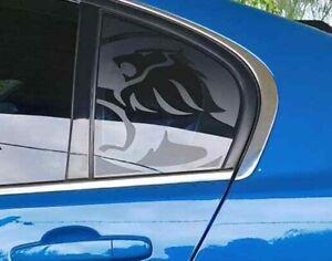 VF VE Commodore Sedan (Vinyl Stickers) LION Qtr window decals