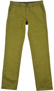 Gant Men's Jeans Denim Chino Green Cotton Pocket Button Zip Size 32/34 Genuine