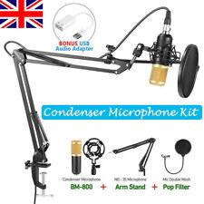 Professional Studio Condenser Microphone Mic Sound Recording Kit w/ Shock Mount