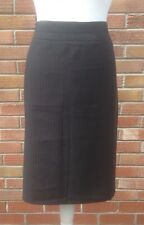 BHS ladies work business office black white pinstripe lined skirt size 20