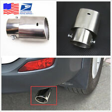 Car Chrome Stainless Steel Tail Throat Exhaust Muffler Pipe Tips Shipped From US