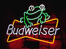 """New Budweiser Frog Beer Neon Sign 17""""x14"""""""