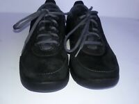 Dansko Women's Lace Up Comfort Shoes Black Suede Sneakers Size 39 US / 8.5-9 EU
