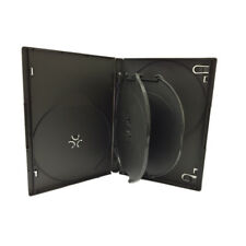 5 Black Standard 14mm 6 Disc CD DVD Storage Box Case with 2 Trays