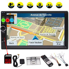 """HD 2Din 7""""In Dash Stereo Car Video Player Touch Screen Radio GPS BT USB SD+ Map"""