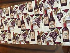 New listing Wine Bottles/Grapes/Labels Reversible Table Runner 11� X 41 1/2� New Handmade