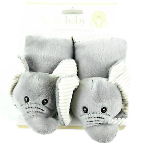 Kelly Baby Grey Plush Child Safety Seat and Stroller Elephant Strap Covers NEW