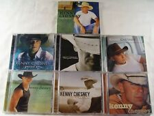 Lot Of 7 KENNY CHESNEY CDs -  Hits, Sun Down, Whiskey, Lucky, Who I Am, No, We