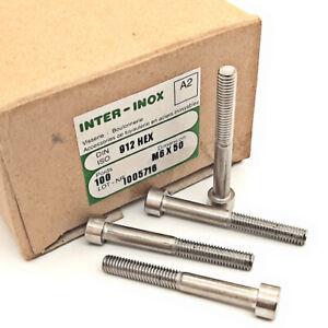 [10pcs] M6X50-A2-DIN912 M6X50/DIN912 ISO4762 SCREW