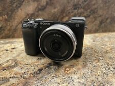 Sony Alpha A6000 With Three Lenses Extra Batteries And Bag