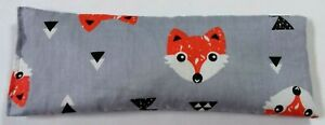 Orange fox Sleep/Migraine/Yoga/stress Cotton Eye Pillow Lavender Linseed