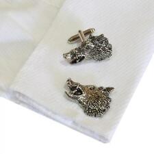 Silver Pewter Boars Head Cufflinks Handmade in England Cuff Boar Pig Wild New