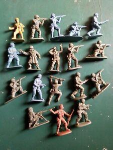 Matchbox. 1/32é. Militaires WWII. 18 pièces. Lot 18MM. 🇬🇧🇺🇸🇩🇪