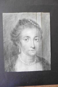FLEMISH SCHOOL LATE 17thC - PORTRAIT OF A LADY - FINE CHARCOAL CIRCLE VOET