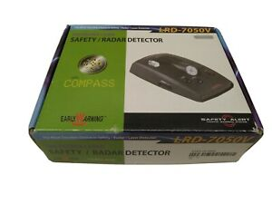 Early Warning LRD-7050v Front & Rear Safety Radar and Laser Detector  New in Box