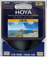 58mm Hoya Circular Polarizing CIR-PL CPL FILTER for Canon Sony Nikon Lenses