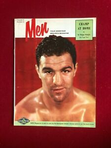 """1950's, Rocky Marciano, """"MEN"""" Magazine (No Label) Scarce/ Vintage"""
