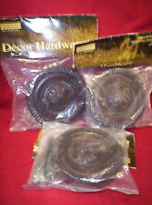 """4"""" MEDALLION CURTAIN TIE BACK DRAPERY HOLDER CHERRY, SET OF 3, Wall mounted. NEW"""