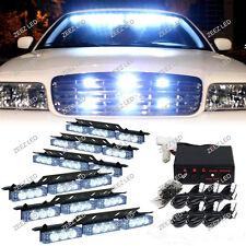 54 White LED Warning Flash Strobe Light Bar Emergency Hazard Deck Dash Grille#04