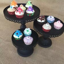 10  Inch Metal Black  Cake  Stand.  For Birthdays, Weddings, Events
