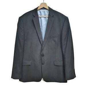 Charles Tyrwhitt Men's Dark Grey Wool Blazer Suit Jacket and pants set 43.5 inch
