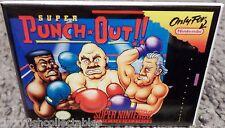 "Super Punch Out SNES Game Box 2"" x 3"" Fridge Locker MAGNET Nintendo"