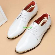 Mens plus size patent Leather Pointy Toe Formal Dress Shoes wingtip shoes Hot