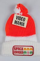 SPACE INVADER Stocking Cap Hat Beanie Ski  Pom Pom 1980's Retro Game Arcade NEW