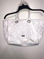Carlos Santana White Purse Handbag Bag Large Tote