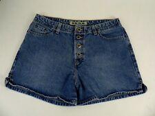 "Women's Zena Button Fly Denim Jean Shorts Size 14 32"" x 4"" Medium Wash"