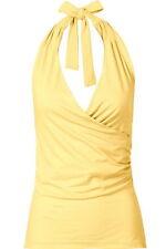 Figurbetonte Damenblusen, - tops & -shirts im Wickeltops-Stil mit V-Ausschnitt