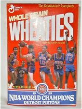 1989 NBA World Champions Detroit Pistons Wheaties Collectors Box Unopened