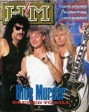 HM 74 1989 Blue Murder Lizzy Borden Faith No More Guns N'Roses Slammer Mountain
