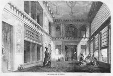 PERSIA (IRAN) Divan-I-Khaneh at TEHRAN - Antique Print 1857