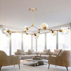 Modern Ceiling Lights Lobby Gold LED Chandelier Kitchen Large Pendant Lighting
