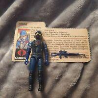 Vintage GI Joe Figure 1983 Cobra Soldier complete with file card