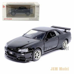 1/36 Nissan GTR R34 Skyline Model Car Diecast Toy Vehicle Collection Gift Black