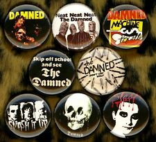 "The Damned 8 NEW 1"" buttons pins badge neat smash it up punk captain sensible"