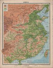 1939 Mapa ~ China ~ meseta de Mongolia kweichow Honan fukien Formosa
