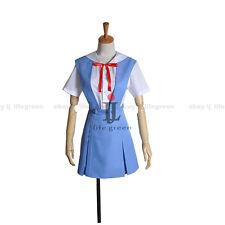 EVA Neon Genesis Evangelion AYANAMI REI/ASUKA Sailor Suit Cosplay Costume