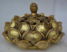 9.5 cm * / Collect brass in ancient China. Lotus flower incense burner