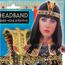 LADIES EGYPTIAN GODDESS JEWELLED SNAKE HEADBAND FANCY DRESS COSTUME ACCESSORY