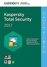 Kaspersky Total Security Multi Device 2017 5 PC Gerät 1 Jahr Download Lizenzkey