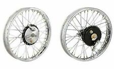 "19"" HALF WIDTH HUB FRONT& REAR COMPLETE WHEEL RIM SET ASSEMBLY ROYAL ENFIELD BSA"