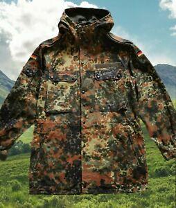 SCHARRER 1993 Military German mens heavy cotton Camo Parka fit medium men's
